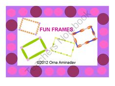 FUN FRAMES 4U from Ornaa's Art Shop on TeachersNotebook.com (22 pages)  - 10 full sized frames and 12 smaller ones for you to use for any project and activity.