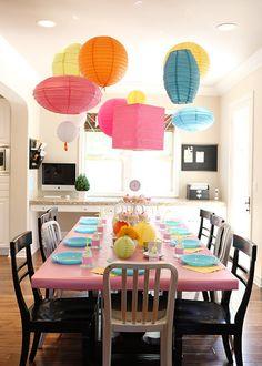 chinese lanterns... LOVE this idea!