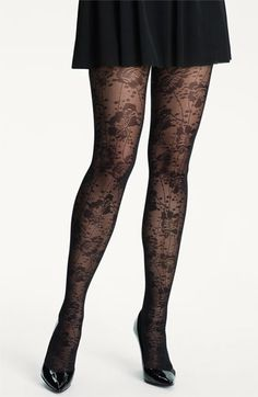 New Markdown: kate spade new york spotted floral lace tights #Nordstrom #NSale