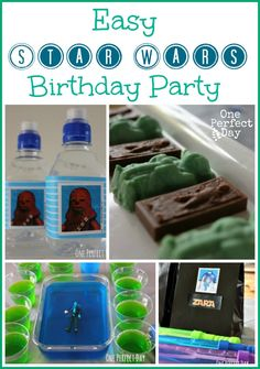 Lots of easy, and do-able ideas for a Star Wars party. Love the birthday cake.