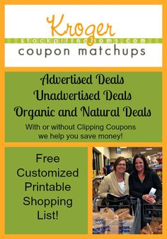 Kroger Grocery Store Deals and Coupon Matchup (2/10 - 2/16)