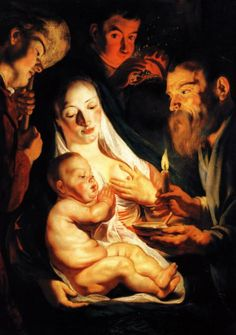 Adoration of the Sheperds, 1616,   Jacob Jordaens (1593-1678), National Museum, Stockholm.