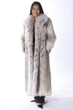 long lynx fur coat