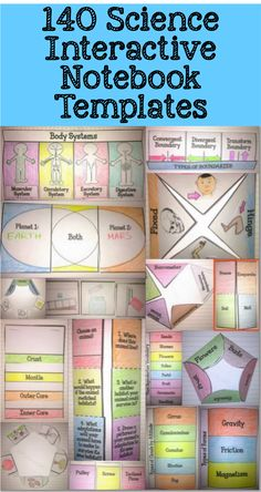 Science Interactive Notebooks templates.