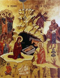 Another holy icon of the Nativity #God #Jesus #Virgin #Christmas #Christianity #Catholic #Orthodox #icons #art