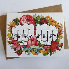 idea, dream, weddings, wedding tattoos, knuckl tattoo, bride, couple tattoos, tattoo wedding invitations, anniversary cards