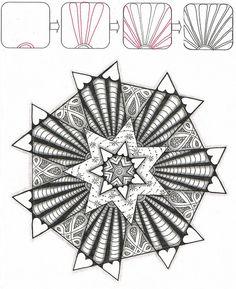 Sunrise flickr instructions by Judy's Creative Doodling, via Flickr