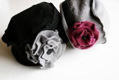 felt hat with felt flowers