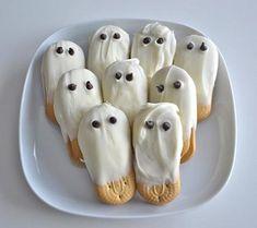 Halloween food fun! Ghost cookies. #halloween #party #parties #food #foods #recipe #recipes #ghouls #cool #fun #great #kids #ideas #ghost #ghosts #cookie #cookies