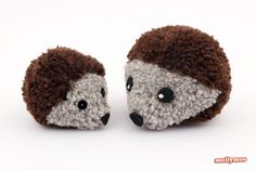 How to Make Pom Pom Hedgehogs | MollyMoo