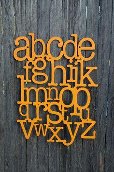 Alphabet on the Wall ABC ABCs by spunkyfluff on Etsy
