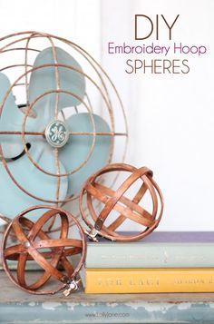 DIY Embroidery Hoop Spheres using ProBond (lollyjane.com)