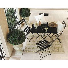 Set of Two Café Folding Chairs