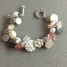Bracelet made out of buttons. I love it!!