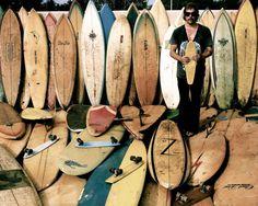 beaches, summer styles, surfboards, surf art, surfs up, donavon frankenreit, quiver, old school, vintage surf