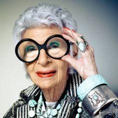 Iris Apfel - one of our fashion icons.