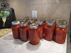 Spaghetti Sauce Canning the Easy Way - YouTube