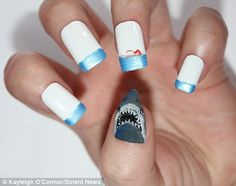 Batman, Disney, Pixar, Sesame Street, Jaws and Star Wars: Are movie-inspired manicures the craziest nail art yet? | Mail Online