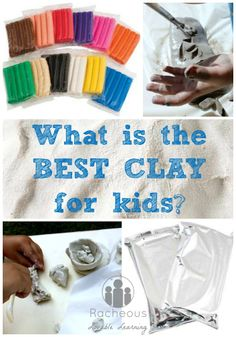 What is the best clay for kids? Tons of inspiration for working with clay with kids of all ages! & information about different types of clay!