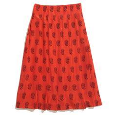 Madewell  Silk Balcony Skirt In Teardrop Paisley skirt, balconi