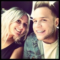 Lou Teasdale with Olly Murs