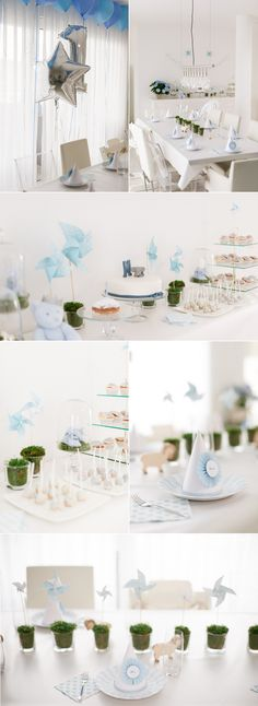 Boys 1th birthday with blue color theme