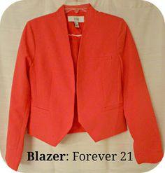 bright red blazer
