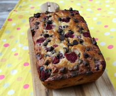 Raspberry Dark Chocolate Banana Bread