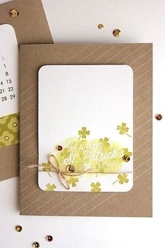 Happy St. Patrick's Day Card by Heather Nichols for Papertrey Ink (March 2014)