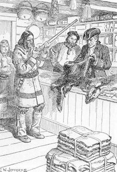 Hudson's Bay Company trading post, by CW Jeffreys