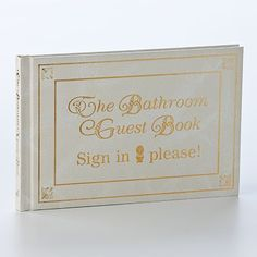 This and that odds and ends on pinterest 100 pins for Bathroom guest book