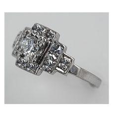 Vintage Antique Diamond Engagement Ring Circa 1950's