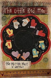 Mitten Mat Wool Applique winter