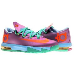 The Nike KD VI (GS) Boys Basketball Shoes are composed of a two layer upper. Light-weight and secure these shoes are sure to make the person wearing them happy. Visible air sole unit provides comfort every step of the way. Flywire technology and the two-layer upper account for a lighter shoe with a sleeker design than its predecessor. A shoe fit for a scoring champ, why not wear one yourself?