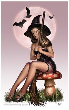 Aly Fell ( Halloween Pin Up Witch)