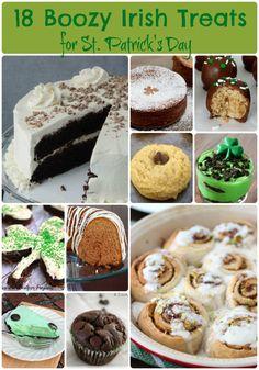Boozy Irish Desserts for #StPatricksDay