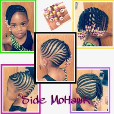 little girls, little girl braided hairstyles, little girl hairstyles, natur hairstyleschildren, side mohawk