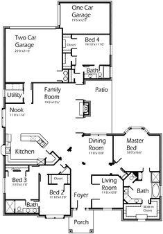 Open floor plan on pinterest house plans open floor for House plans by korel home designs