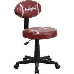 Football fan? Have an office? then why not try this pigskin office chair. This chair is made to stand out and be easily cleaned with its upholstery don't in vinyl material. Check out this pigskin office chair by Flash Furniture.