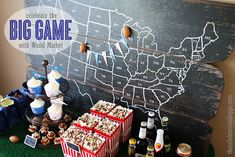 8 football party ideas for the Big Game with thecelebrationshoppe.com and @Hannah Teague Market