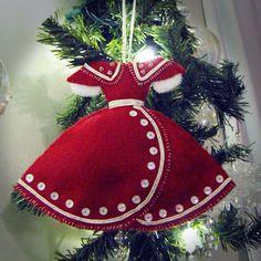 dress patterns, 2012 christma, ornament pattern, christma decor, christma idea