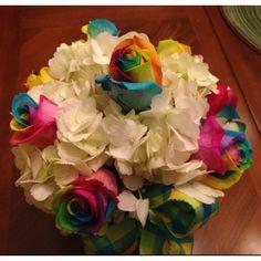 Rainbow Roses, centerpiece