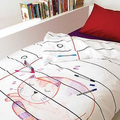 Doodle Duvet Cover. I need this.