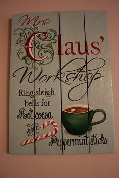 Indoor or Outdoor Christmas sign Mrs Claus' by 1105DesignsNC, $58.00