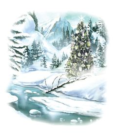 Winter Clip Art | ... : Free Vintage Clip Art - Lovely Winter Scene and a Fun Puppy