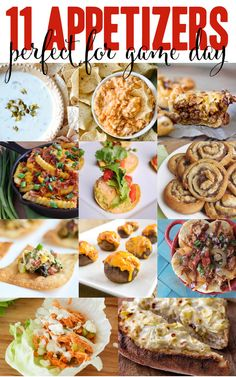 11 appetizers for game day or any day! these are too good to miss - easy appetizers that will please your whole crowd (plus a giveaway worth $400!)