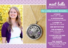 Meet our very own Bella and what she carries in her Living Locket!