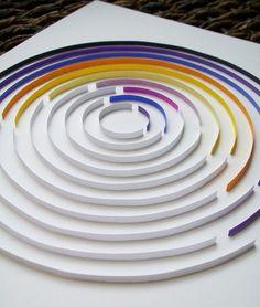 glued paper strips