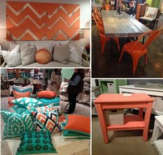 Orange accents were a rising trend at last fall's High Point Furniture Market. (http://blog.hgtv.com/design/2012/10/25/color-trends-at-high-point-market/?soc=Pinterest)