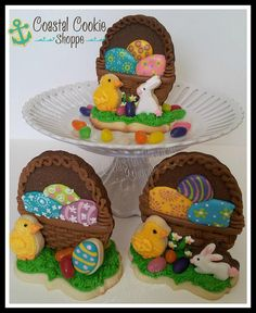 3D Easter Basket Cookies by East Coast Cookies, via Flickr